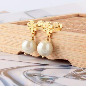 Tory Burch Crystal-Pearl Earring